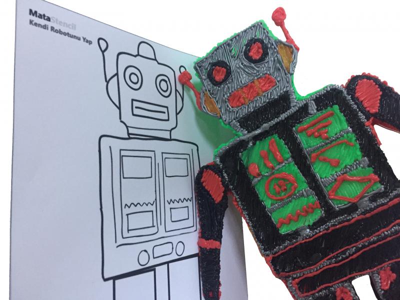 Robotunu 3D Kalem İle  Kendin Yap